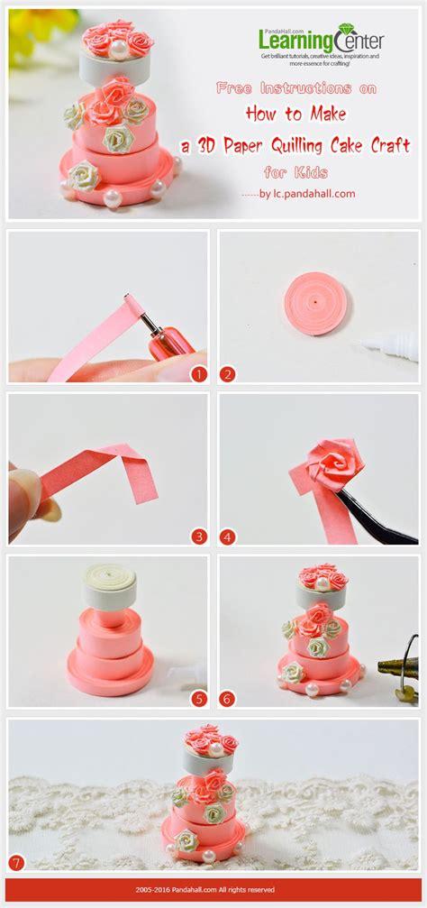 paper craft tutorials free best 25 quilling cake ideas on