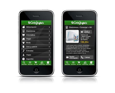 contacto corte ingles el corte ingl 233 s lanza su aplicaci 243 n i phone desarrollada