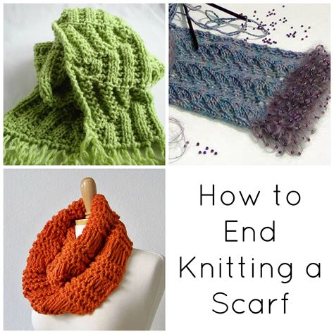 finish knitting bind basics how to end knitting a scarf