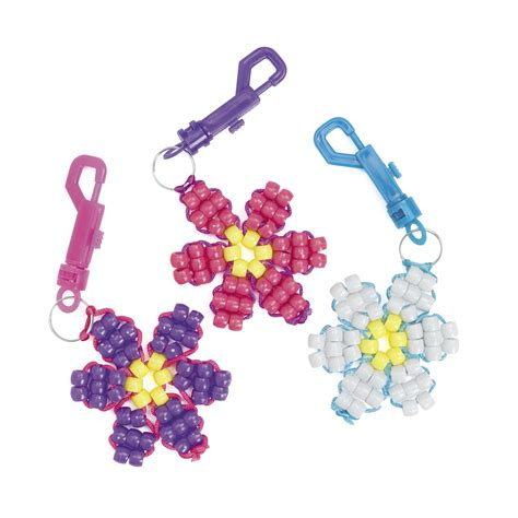 pony bead crafts for plastic beaded flower clip craft kits partypalooza