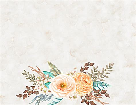 watercolor floral background vintage poster watercolor