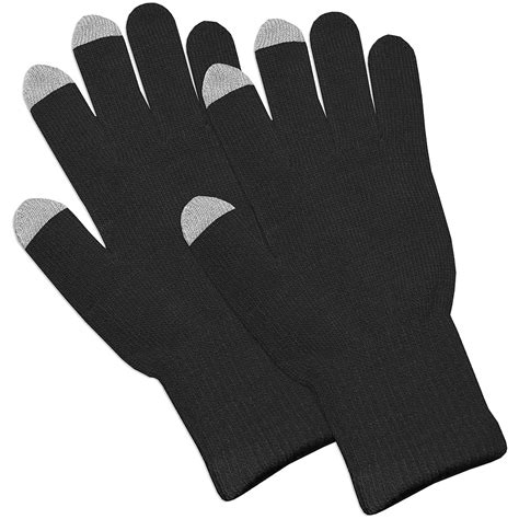 knit touchscreen gloves amzer 174 capacitive touch screen knit gloves black