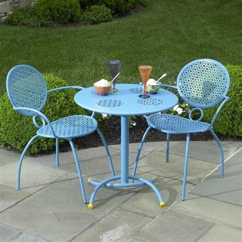 bistro set patio furniture the margarita bistro set blue hawaiian by alfresco home