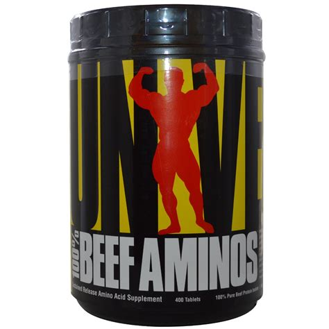 Universal Nutrition, 100% Beef Aminos, Sustained Release Amino Acid Supplement, 400 Tablets