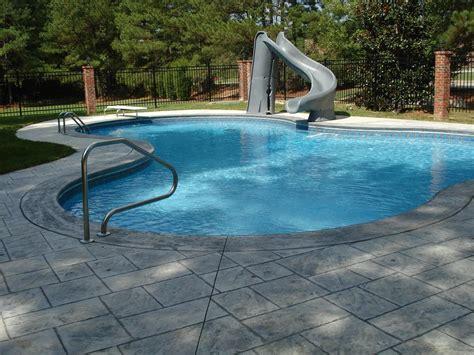 backyard pool slides of home pool slides backyard design ideas
