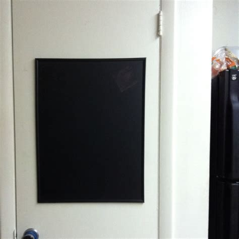 spray paint poster board chalkboard for the kitchen all you need is a