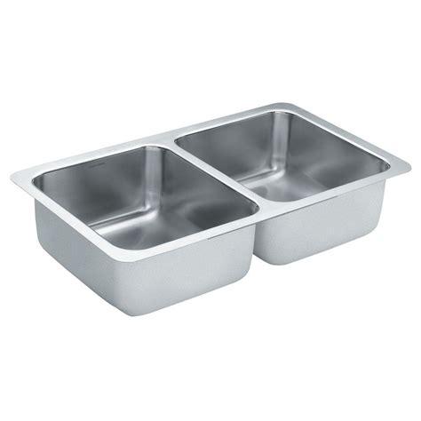 moen undermount kitchen sinks moen 2000 series undermount stainless steel 24 in