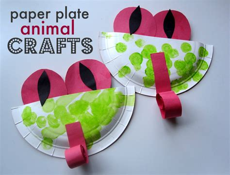 paper craft activities paper plate animal crafts no time for flash cards