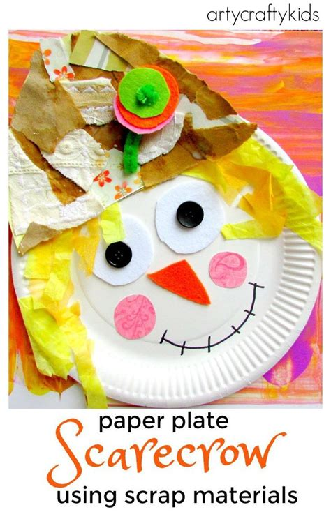 scarecrow paper plate craft paper plate scarecrow crafts paper and kid