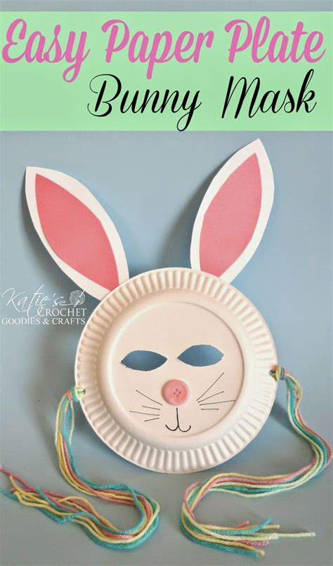 easter bunny paper plate craft easy paper plate bunny craft