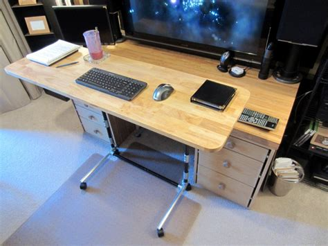 height of a computer desk sit stand adjustable height computer desk