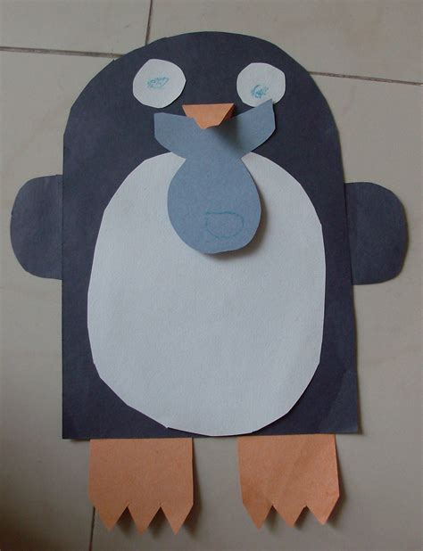 winter construction paper crafts winter penguin craft preschool education for