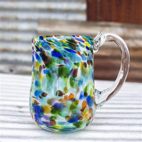 handblown glass shop for a blown glass mug at salado glassworks