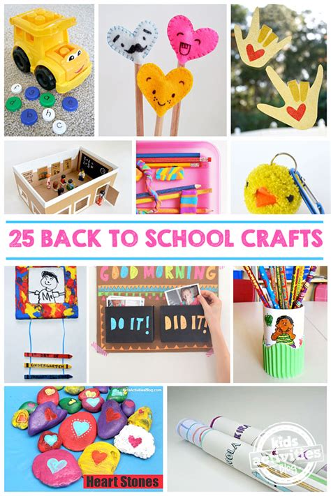 school crafts 25 back to school crafts to make this school year