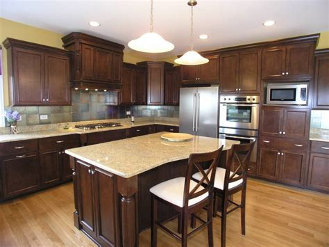 kitchen island counters contemporary kitchen with light granite counters wood island homedizz