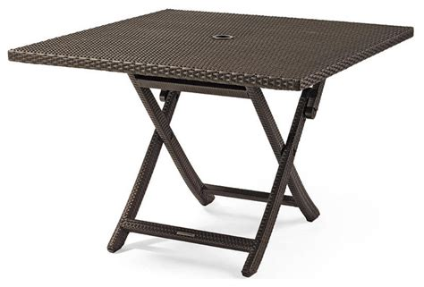 folding patio table cafe square folding table patio furniture traditional