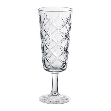 FLIMRA Champagne glass Clear glass/patterned 19 cl   IKEA