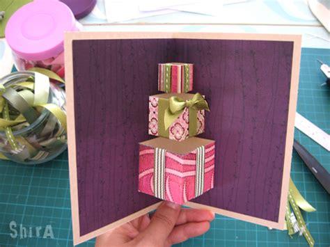 3d card ideas how to diy 3d gift box pop up card icreativeideas