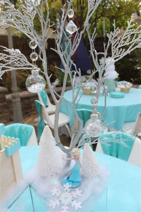 frozen birthday party ideas kids party tables frozen