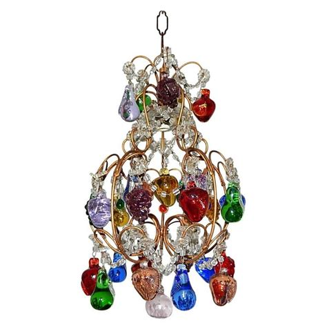 murano glass fruit chandelier italian murano fruit petit chandelier for sale at 1stdibs