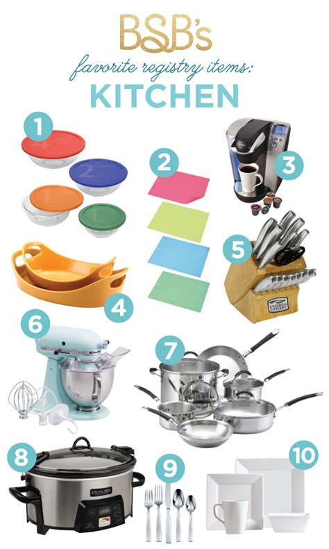 kitchen must haves list bsb s registry must haves kitchen the budget savvy