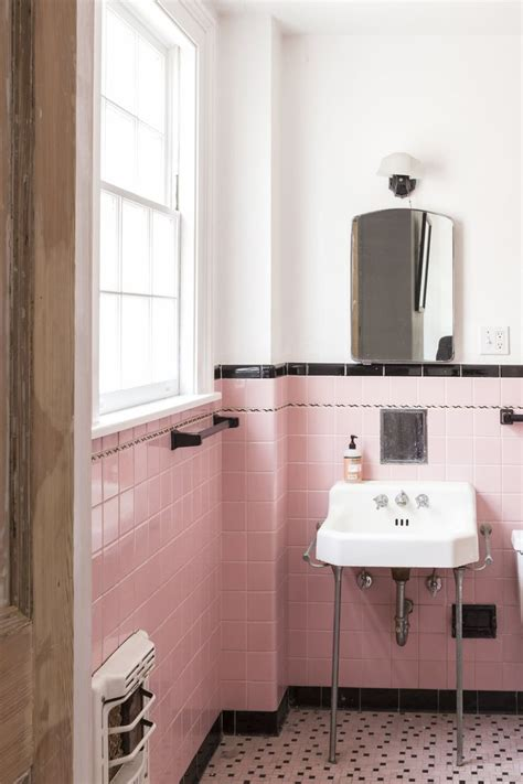 black and pink bathroom ideas 25 best vintage bathroom tiles ideas on tiled