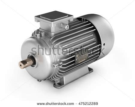 Big Electric Motor by 3d Big Electric Motor On White Stock Illustration