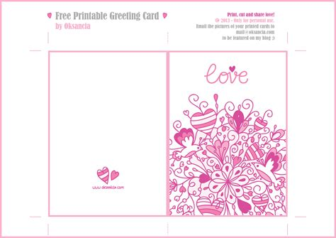 how to make a printable card 8 best images of printable gift cards printable