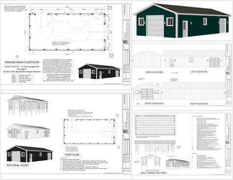 Build An A Frame g511 24 x 50 pole barn sds plans