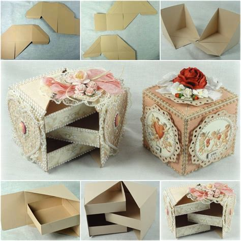 how to make jewelry gift boxes how to diy secret jewelry box from cardboard fab diy