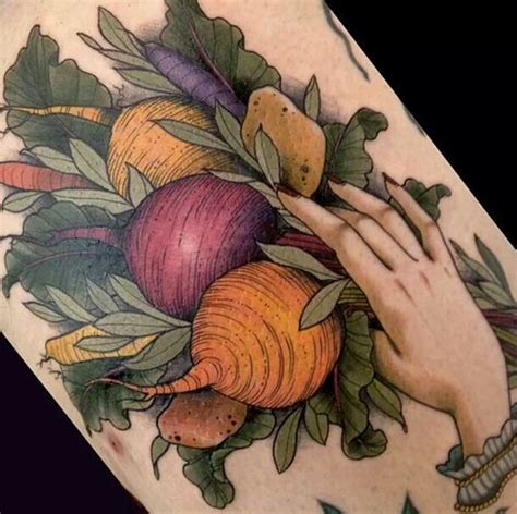 vegetables great tattoo work pinterest