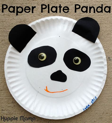 animal paper plate crafts paper plate panda carrie