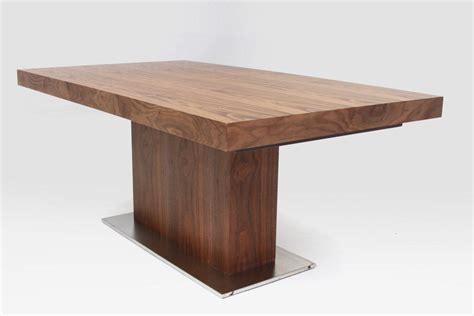 modern walnut furniture modrest zenith modern walnut extendable dining table