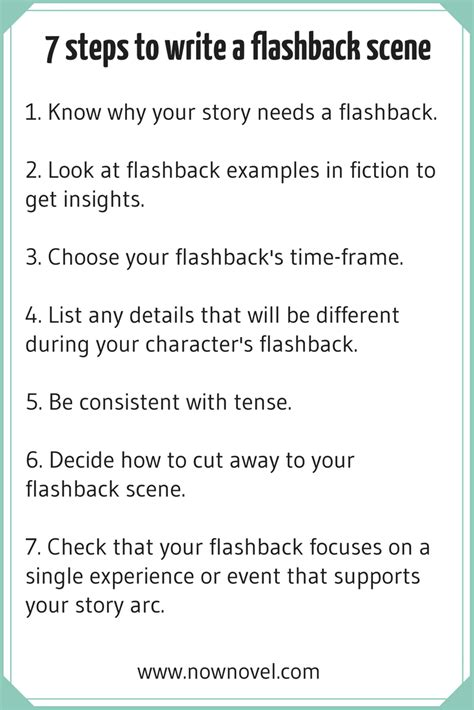 how to write a story book with pictures how to write a flashback 7 key steps now novel