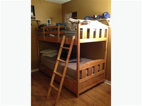 birch bunk bed solid birch wooden bunk beds outside ottawa gatineau area
