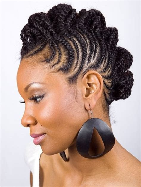 braided mohawk with american hairstyles trends and ideas braided