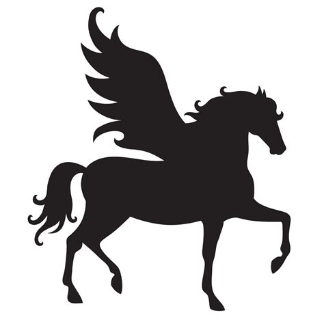 pegasus stencil for glitter tattoos for horses