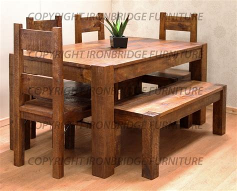 kitchen table with benches set rustic dining tables with benches roselawnlutheran