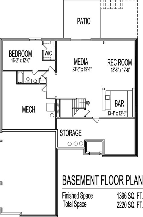 2 bedroom floor plans with basement awesome home plans with basements 13 2 bedroom house
