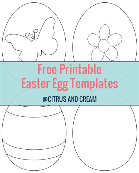 printable crafts for 6 best images of free easter printable craft templates