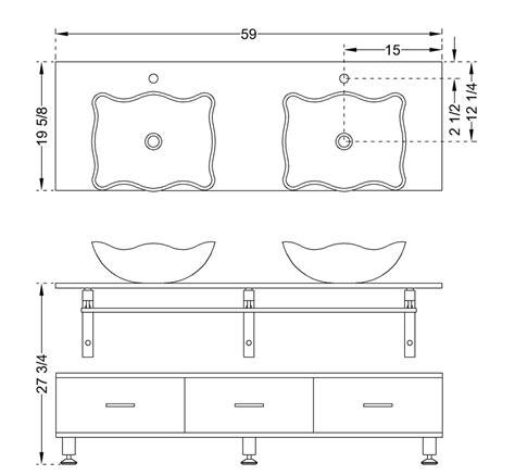 standard bathroom vanity dimensions modern glass vanity clear horizon three drawer bathroom