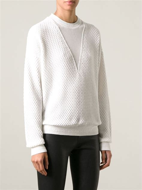 chunky knit sweaters joseph chunky knit sweater in white lyst