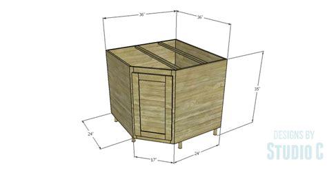building a corner cabinet a corner base cabinet for a kitchen remodel designs by