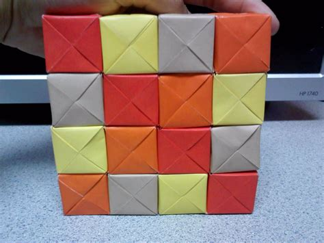 how to make moving origami origami moving cubes square formation by