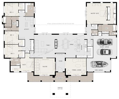 u shaped home with unique floor plan 25 best ideas about u shaped houses on u