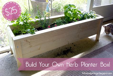 build your own planter box fabulously vintage challenge diy herb