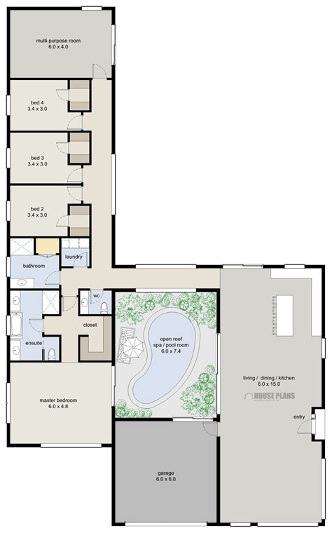 house plan zen lifestyle 6 4 bedroom house plans new zealand ltd