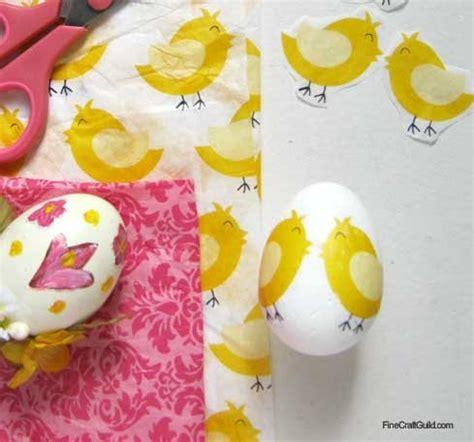 decoupage easter eggs tissue paper tissue paper decoupage eggs