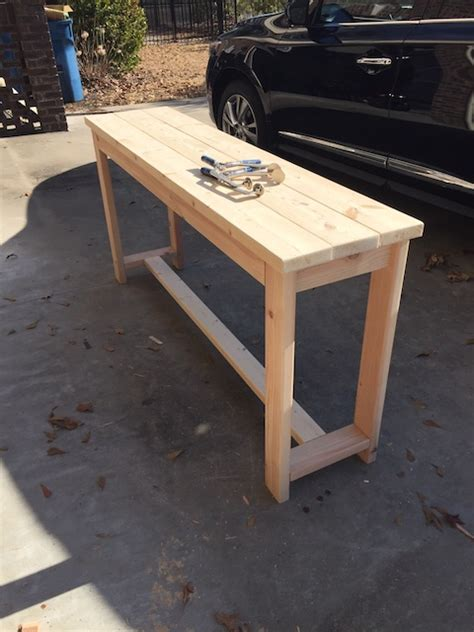 sofa table woodworking plans diy x brace console table free plans rogue engineer