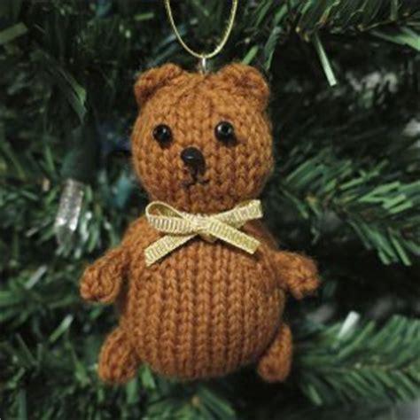 tiny teddy knitting patterns tiny teddy knit ornament allfreechristmascrafts